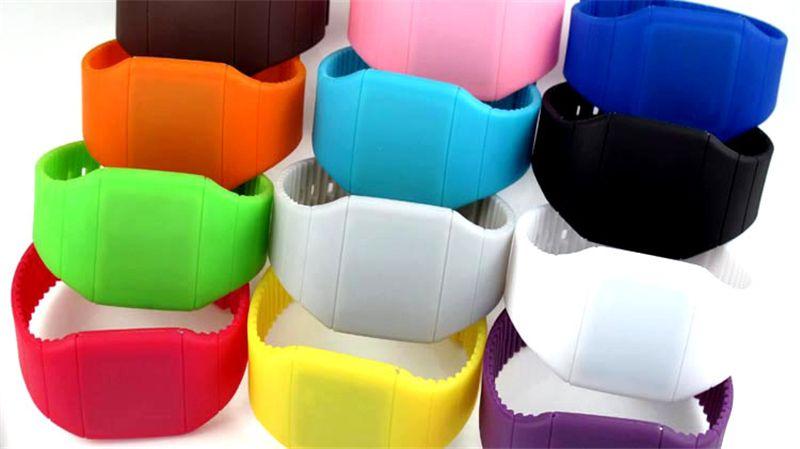 Digital LED Relógio Esportivo Cores Doces Gel De Borracha geléia Estudantes Unissex Pulseira de Silicone Eletrônico relógio de pulso Pulseira Relógios Cintura