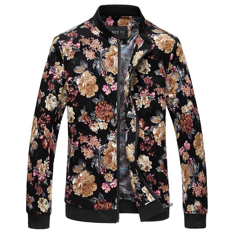Wholesale Bomber Jacket Men Autumn New Men Floral Jackets Hot ...