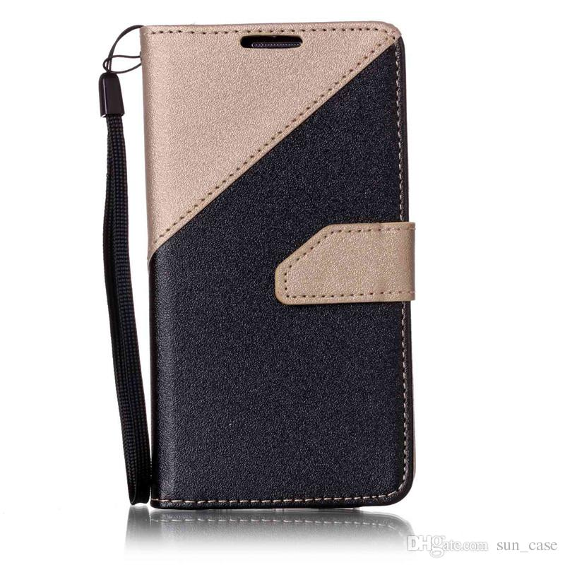 Case For Samsung Galaxy J5 J7 S4 i9500 S5 i9600 S6 S6 Edge S7 S7 Edge A3 A310 A510 Shell PU Leather Stand Wallet With Card Slots Rope Cover