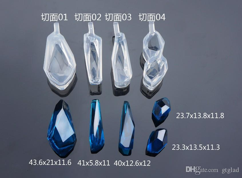New Transparent Silicone Diamond cut surface Pendant Mould For Resin Real Flower DIY Mould Jewelry Making Tool