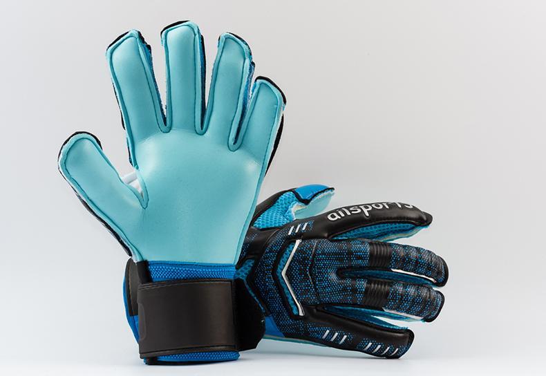 2017 New Two types children Adult male Genuine ST5512 PU Soccer Goalkeeper Gloves Men's gloves with finger guard Full latex gloves goalkeepe