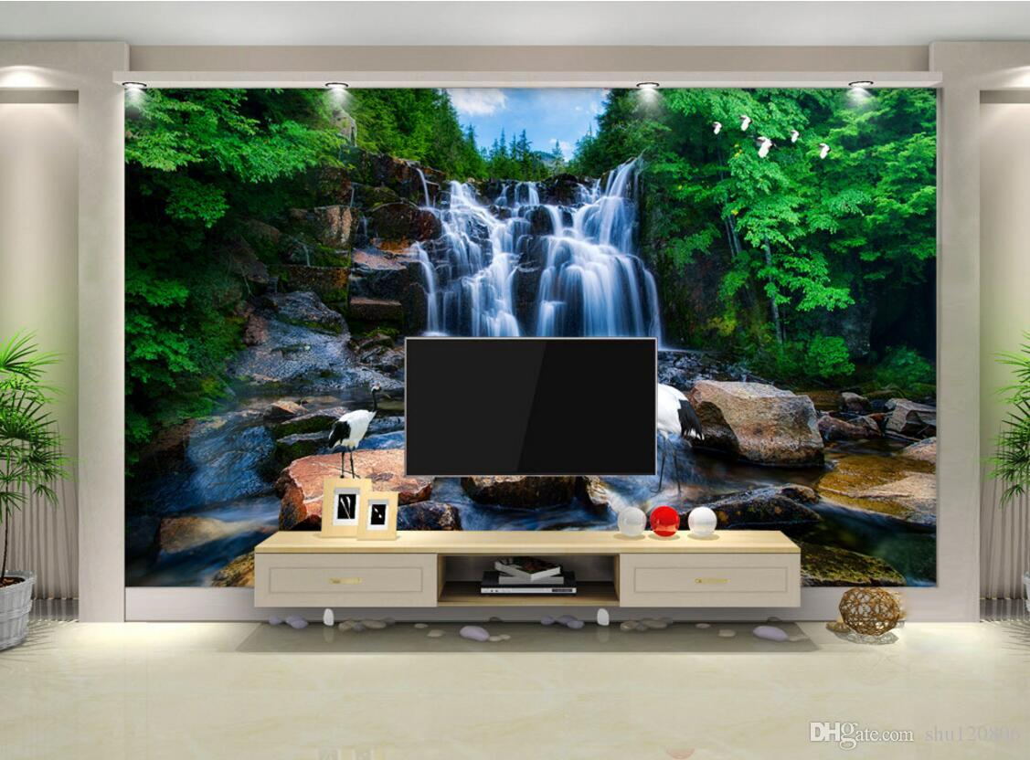 3d room wallpaper custom photo non woven mural mountain waterfalls 3d room wallpaper custom photo non woven mural mountain waterfalls running water painting picture 3d wall murals wallpaper for walls 3 d widescreen amipublicfo Choice Image