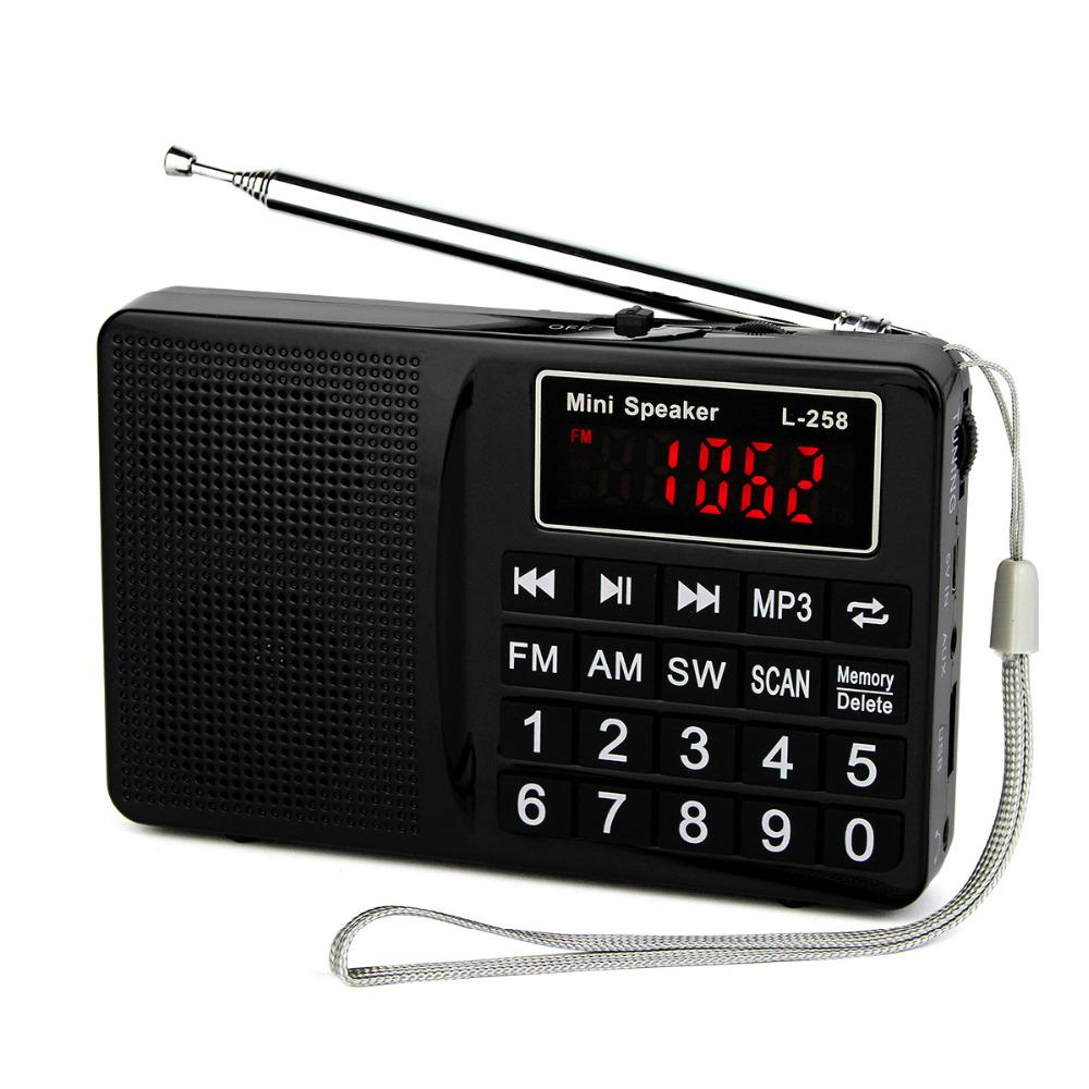 Wholesale-Radio FM/AM/SW Radio Recorder Bass Sound MP3 Music Player Multimedia Mini Speaker Portable Radio Y4405A