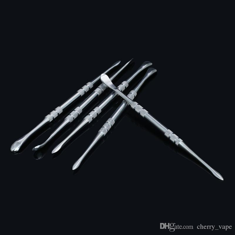 Cera dabber Dabbing nail 121mm vidrio herramienta dabber Herramienta de acero inoxidable Limpieza Dab herramienta de concentrado de cera