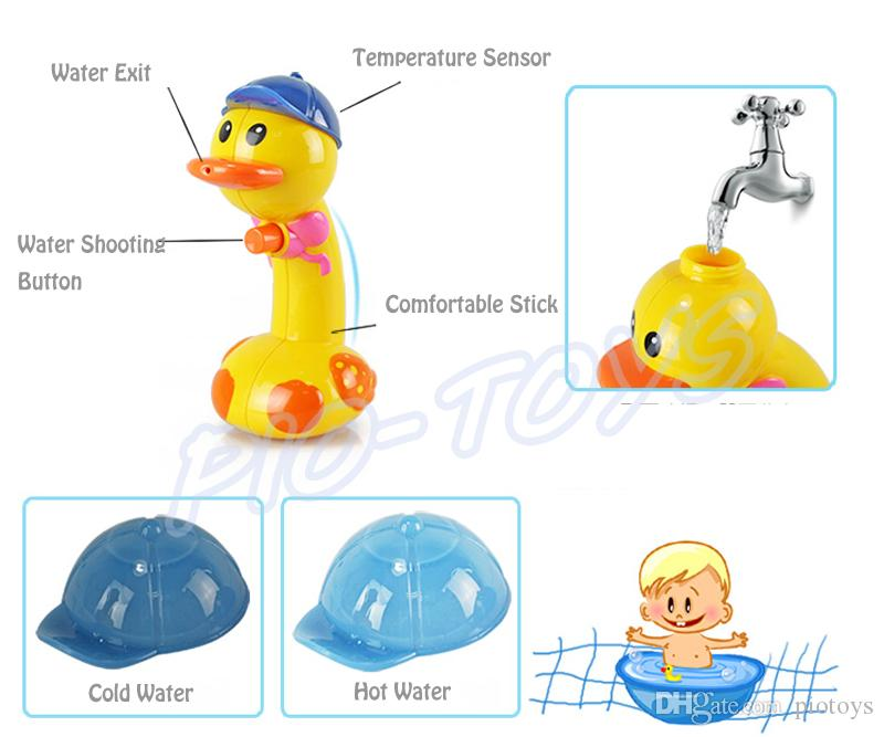 Summer Gift Baby Bath Toys Water Fun Spraying Temperature Sensor Duck Children Shower Fun Game Kids Learning Tool Present Sand Play
