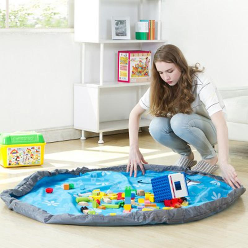 Portable Kids Toy Organizer Storage Bag Play Mat Picnic Mat For Rug Box L 80cm.