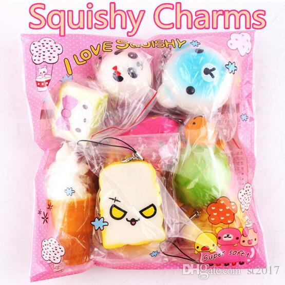Gentle Phone Key Bag Strap Pendant Squishes Bag Accessories Cartoon Cat Squishy Charms Kawaii Buns Bread Cell 4cm A Great Variety Of Goods Luggage & Bags