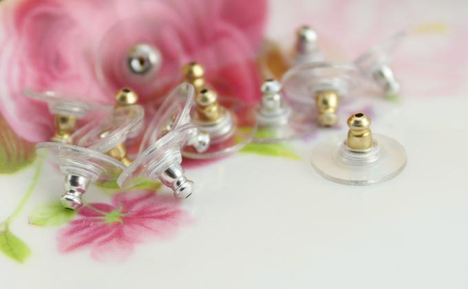 Silver Gold-Plated Earring Backs Accessories For Earrings Earnuts Stoppers Diy Earring Findings Jewelry Making Materials