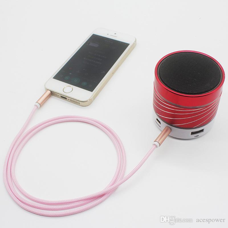 1M maschio a maschio 3.5mm universale placcato oro audio ausiliario Audio Audio Audio Cavo AUX AUX Jack Jack a Jack Dispositivo