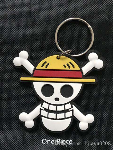 Compre Una Pieza Con Licencia Jolly Roger Skull Charm Llavero Sombrero De  Paja Pirata Luffy Plástico Suave Doble Figura Colgantes Llavero Llavero A   2.02 ... 429d00ccfd6
