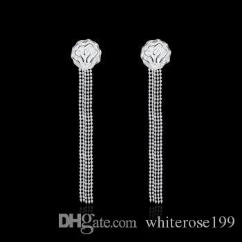 Wholesale - lowest price Christmas gift 925 Sterling Silver Fashion Earrings E048