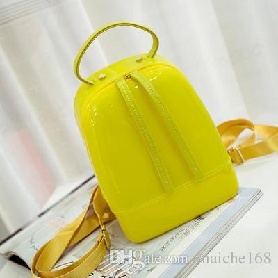 Kadın jöle çanta mini sırt çantası yetişkin çocuk şeker renk plaj su geçirmez