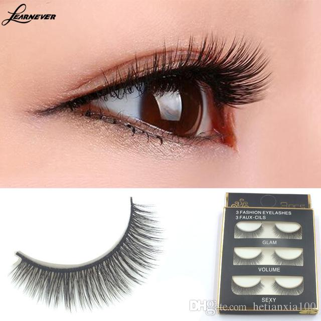 3d Cross Thick False Eye Lashes Extension Makeup Super Natural Long