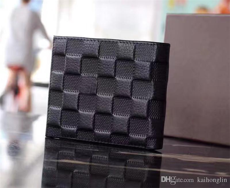 2017 nuovi uomini di alta qualità in pelle di marca classico portafoglio di lusso casual breve paragrafo titolare della carta di design tasca portafoglio uomo