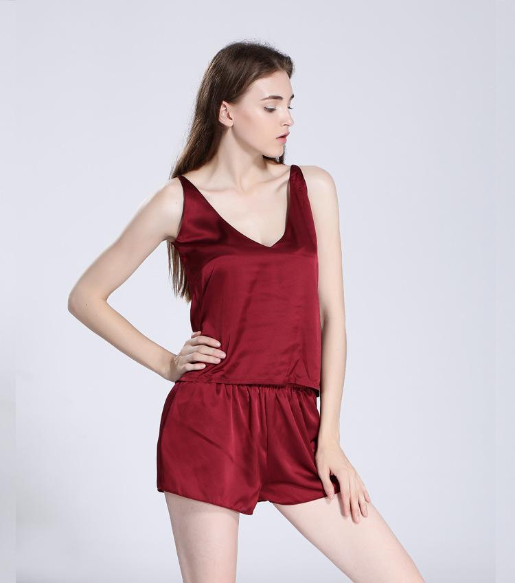 af3176d58f Compre Conjunto De Pijama De Satén De Seda Sexy Y Pijamas Sexy Para Mujer  Conjunto De Pijama De Pijama De Encaje Y Pijama De Cuello Transparente Y  Pijama De ...