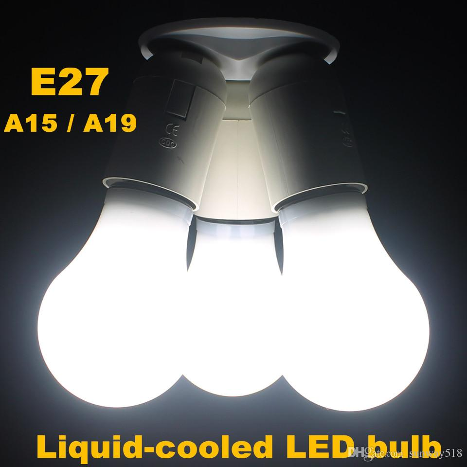 best new smd e27 liquid cooled led lamp a15 a19 corn bulbs led light ac110v 220v 240v for led chandelier 5 years warranty led lightbulbs electric bulb - A15 Bulb