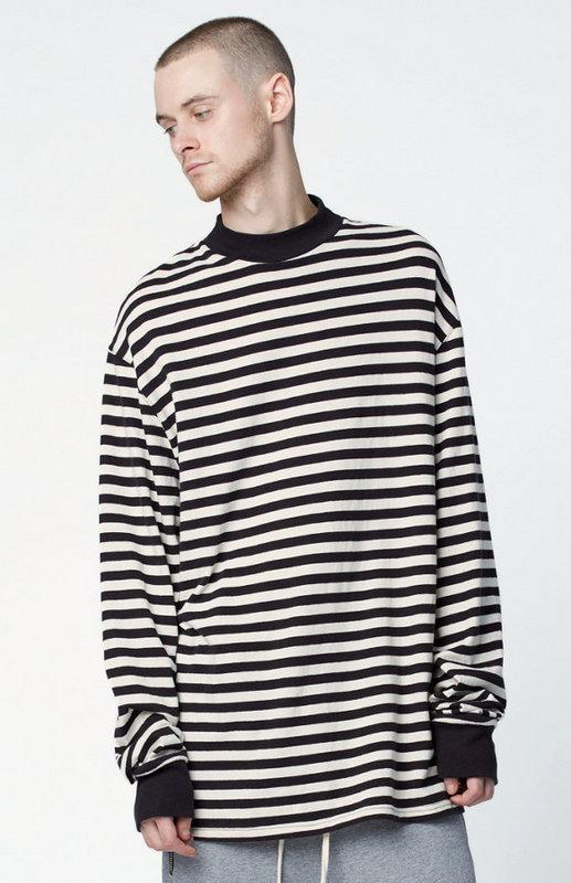 Justin Bieber Clothes Streetwear T Shirt Men Hip Hop Striped Oversized Long  Sleeve Mens TShirts Fashion 2017 Christmas Male Tee 7 Print On Tee Shirt Go  T ... ae551d5dd05a