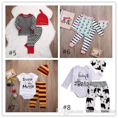 Bébé De Noël Pyjama Toddler Outfit Vêtements De Bébé Barboteuse Ensemble Enfants Boutique Vêtements Fille Garçons Unisexe Infant De Noël Costume De Nuit Costume
