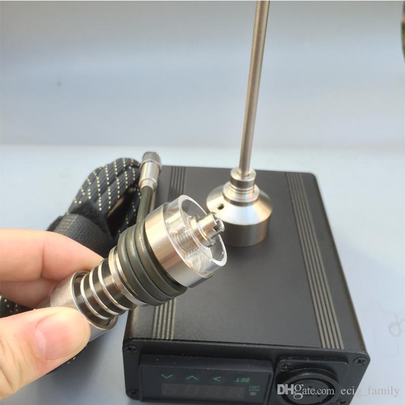 Accessoires Portable Electrique Enail Dnail Quartz banger Nail Titane Vapeur Cire Sec Herbe Plateforme électronique Plateforme de contrôle de température
