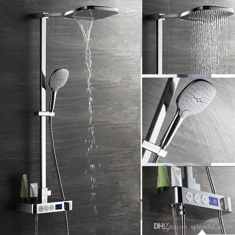 2018 2017 Hot Smart Digital Display Thermostatic Shower Faucets Set ...