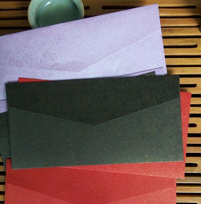 결혼식 호의 파티 호의 봉투 결혼식 청첩장 카드 봉투, 조금 장미 4.33 * 8.66 인치, 봉투 구입, 씰링 스티커 무료
