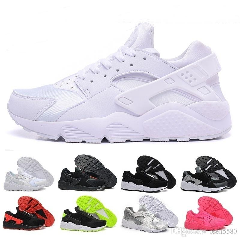 competitive price 1aa84 f9d15 Acheter Nike Huarache 1.0 2.0 4.0 Cheap Air Huarache 2 II Ultra Classique  Tout Blanc Et Noir Huaraches Chaussures Hommes Femmes Sneakers Occasionnels  Taille ...