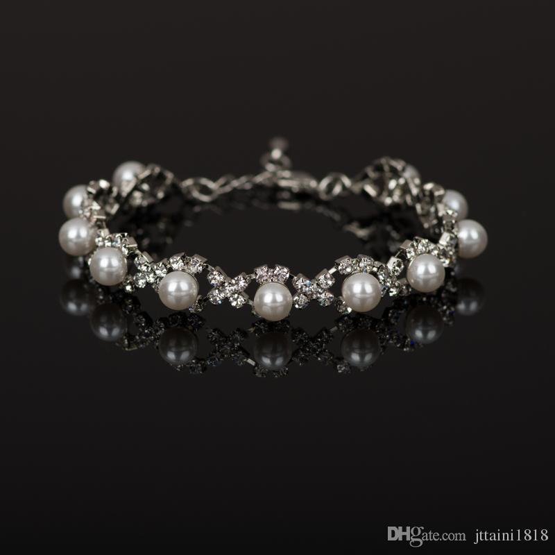 2017 handmade europeo americano braccialetti di fascino braccialetti di cristallo placcato argento braccialetti le donne gioielli accessori all'ingrosso