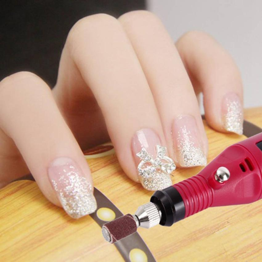 Wholesale- FashionStory Fast Nail Art Drill KIT Electric FILE Buffer ...