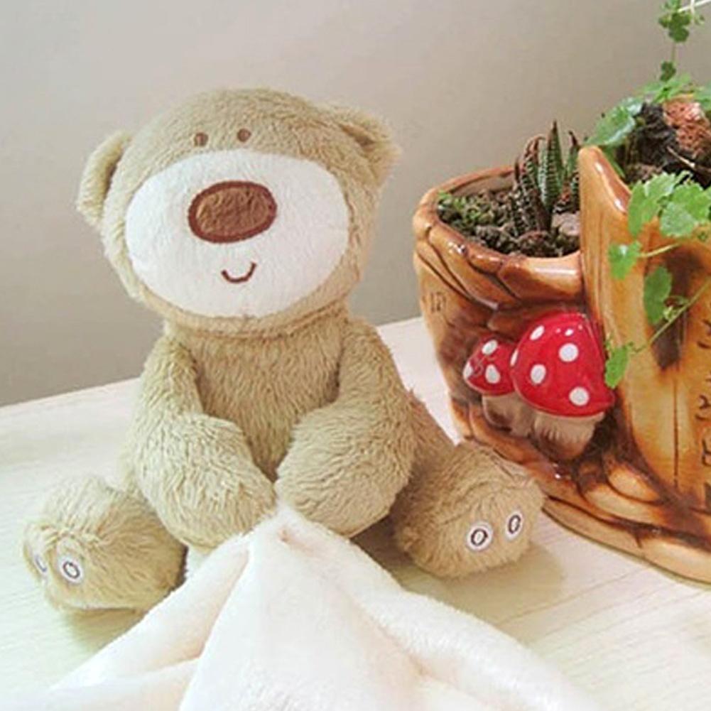 أحب التنمية الكثير الدب blankie لينة الطفل المرايل منشفة لعبة هدية الوليد