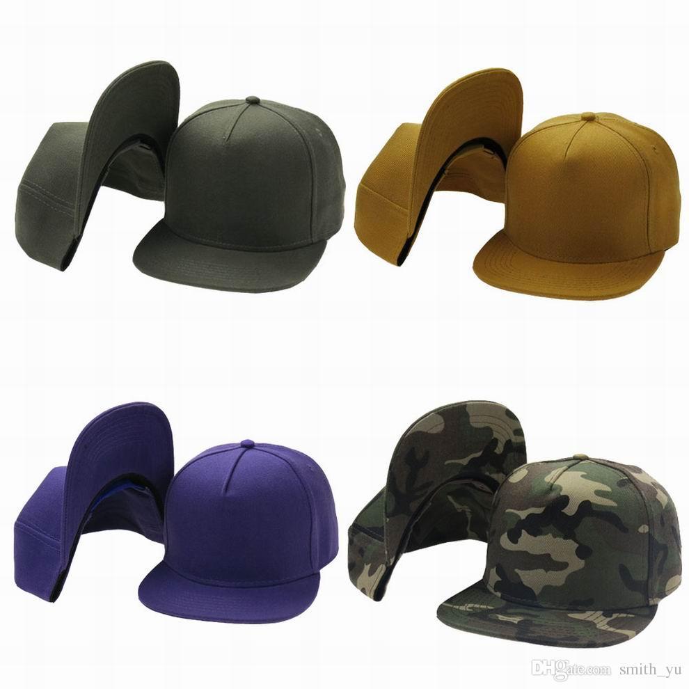 Fashion Green Purple Camo Yellow Plain Blank Snapback Caps Hats Men Women  Sport Snap Back Sun Visor Baseball Cap Hip Hop Adjustable Hat Baseball Hats  ... 2d75d9d0e5a9