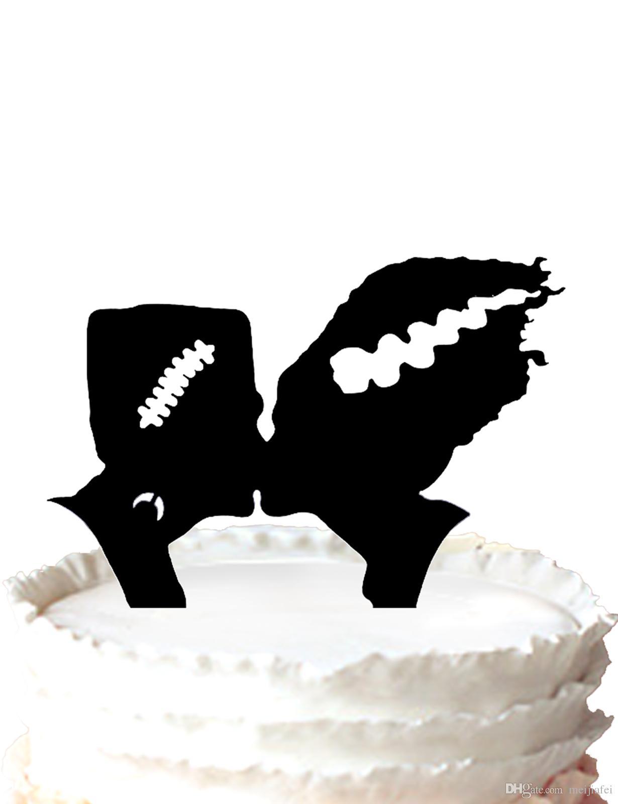 Halloween Cake Topper Monster Cake Toppe,Frankenstein And Bride ...