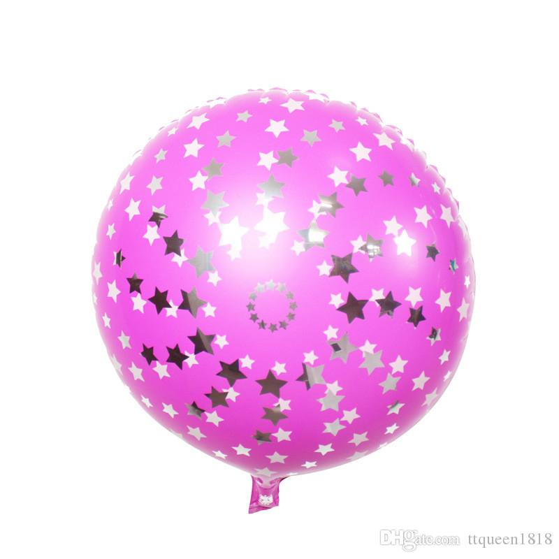 "18"" Inch Foil Star Balloon Pure Colors Helium Metallic Wedding Classic Toys Christmas Birthday Globos Decoration Party balloons"