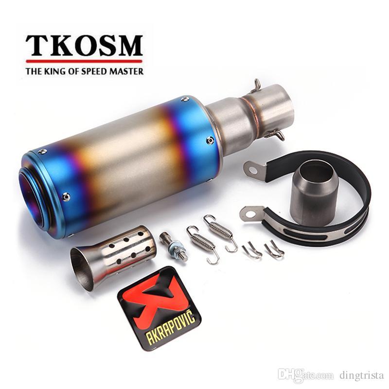 Tkosm العالمي للدراجات النارية akrapovic أنابيب العادم تعديل سكوتر العادم الخمار يصلح لمعظم دراجة نارية ل z800 cbr1000 t- ماكس