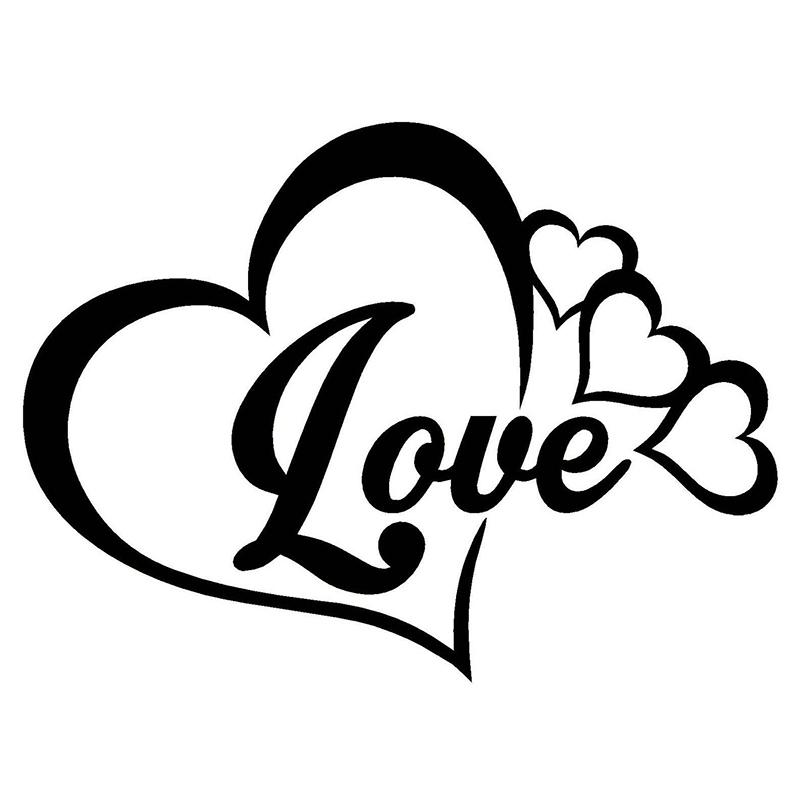 2018 Love Heart Symbol Vinyl Decal Car Window Bumper Sticker Family
