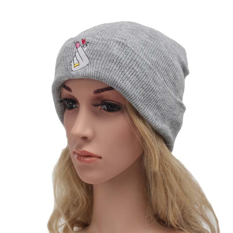 4a48f72f4c9 Korean Style Women S Winter Hat Handmade Red Loving Hand Knitted Headgear  Pure Warm Hat Casual Hip Hop Beanies Cap Gorros Hombre Beanie Caps Slouchy  Beanie ...