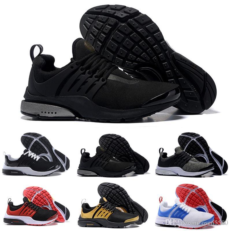 7224c0d80e0 Acheter 2018 Nike Air Max Airmax PRESTO BR QS Breathe Classique Noir Blanc  Chaussures De Course Pour Hommes Femmes