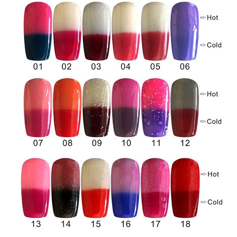 New Fashion Fashion Gel Polish 10ml Bright Colorful Temperature ...