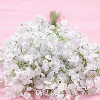 High Quanlity Gypsophila silk baby breath Artificial Fake Silk Flowers Plant Home Wedding Party Home Decoration Cheap Sale