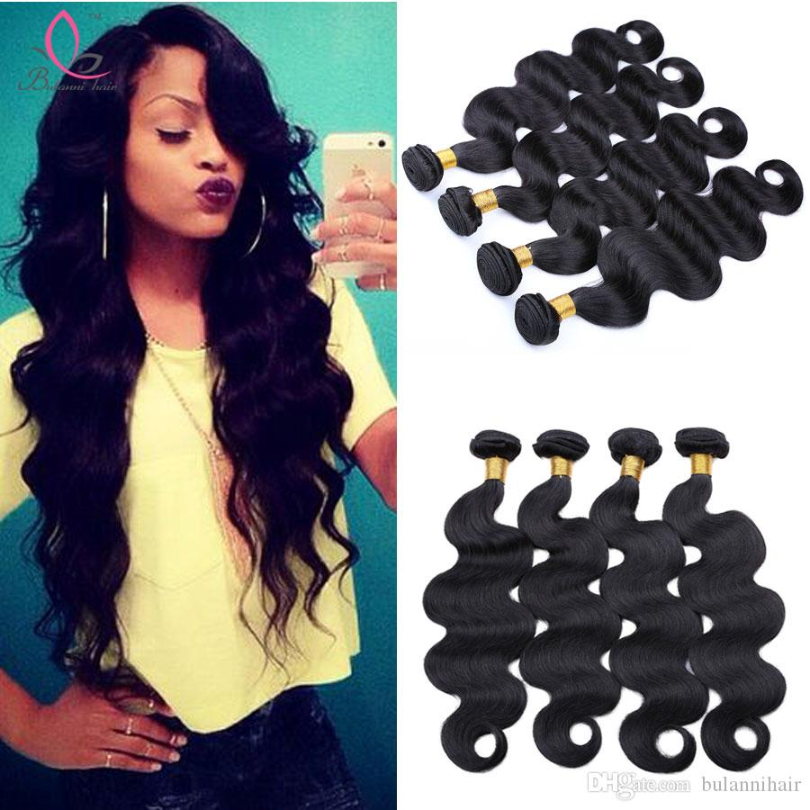 Indian Human Hair Extensions Virgin Hair Weave 4 Bundles Raw Indian