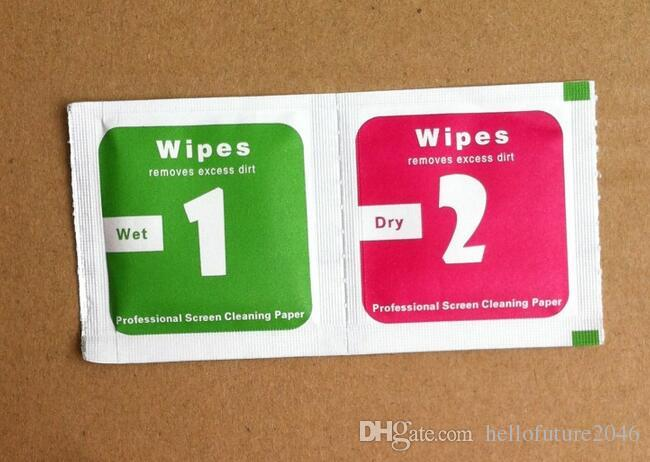 도매업 청소 도구 젖은 건조한 2 in 1 닦음 먼지 흡수제 가이드 스티커 강화 유리 용 스크린 보호대