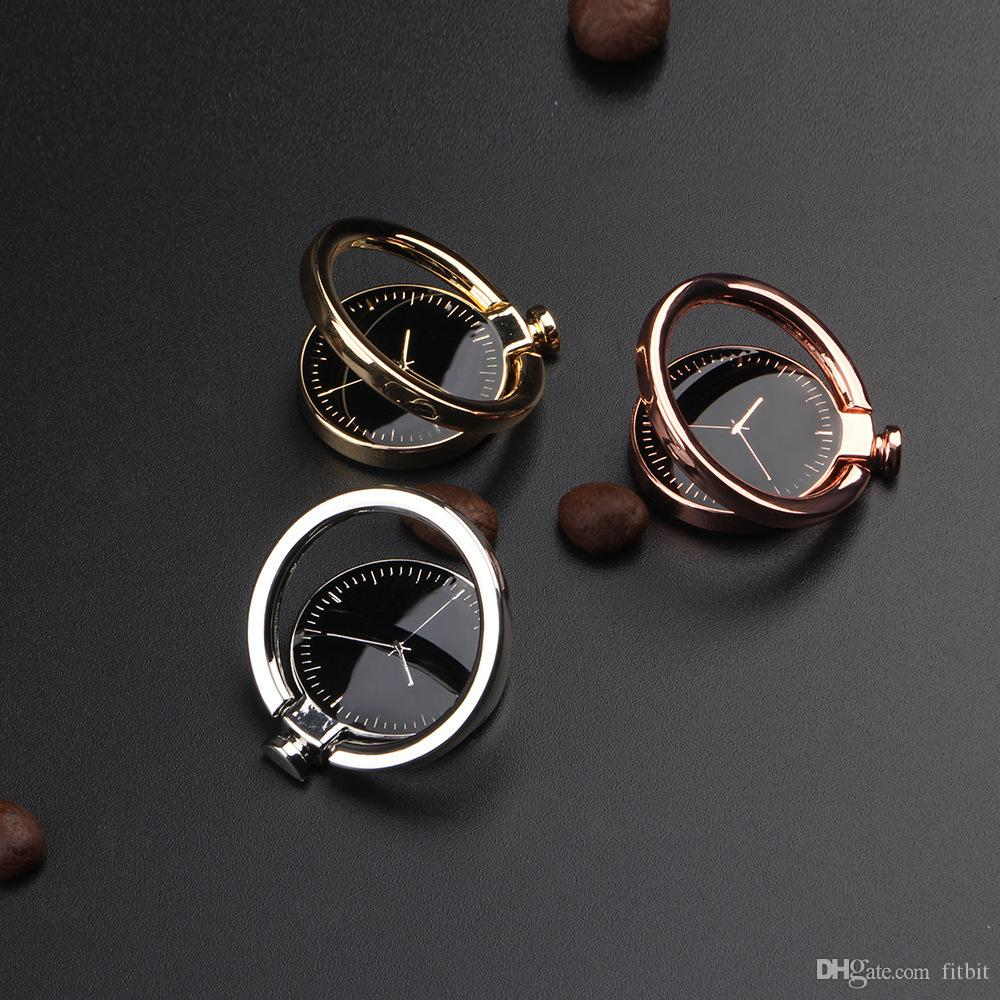 Watch Finger Ring Holder Universal Mobile Phone Smartphone Watch Stander Finger Grip for iPhone Smart Phone Luxury Couple Mode