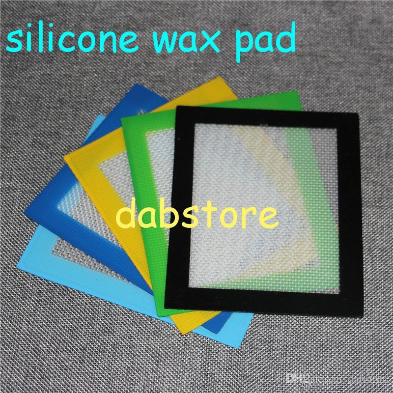 Großhandel FDA 11x8.5cm Silikon Tupfen Matte bruchsicher Tupfen BHO Antihaft Wachs Konzentrat Silikon Pad Tupfen 5,5 * 4,5 Zoll Freies Verschiffen