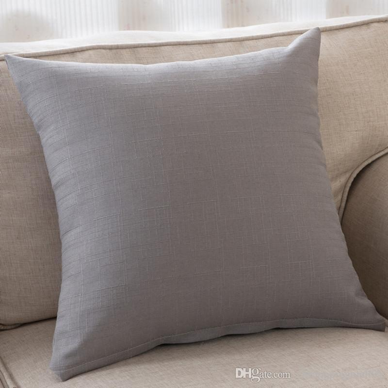 Bz043 Creative Lumbar Pillow Solid Cotton Without Inner Decorative Throw Pillows  Chair Seat Home Decor Home Textile Gift Outdoor Cushions For Wicker ...