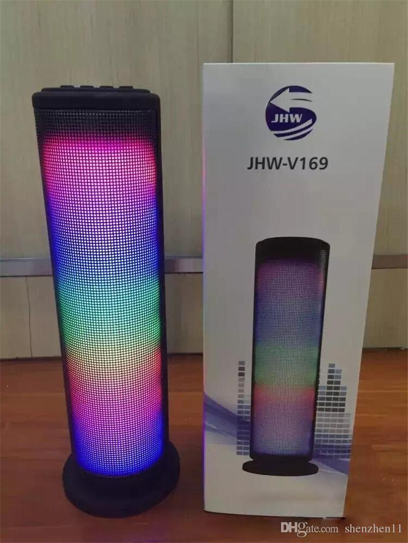 JHW-V169 Music Speaker Bluetooth Wireless LED Light Display 3.0 ESR Stereo Speaker Outdoor Speaker MIS132