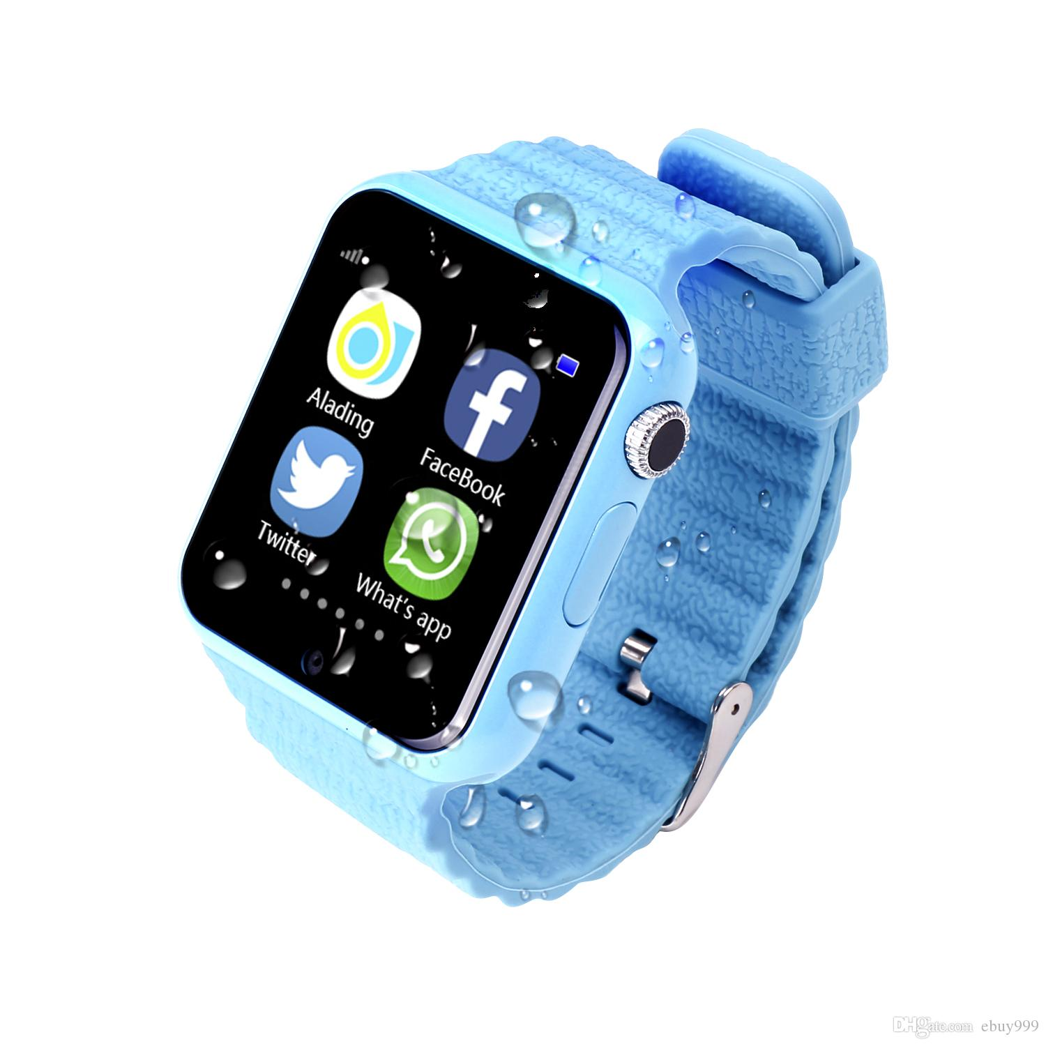 Smart Watch with GPS camera tracker for kid safe SOS Call Location Device phone watch can record sport state