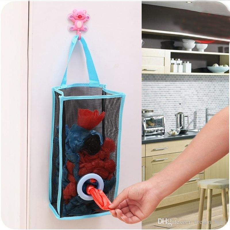 2018 Folding Breathable Mesh Hanging Kitchen Garbage Bags Storage Pouch Shopping  Bag Sorting Gloves Socks Organizers High Quality From Dream_high, ...