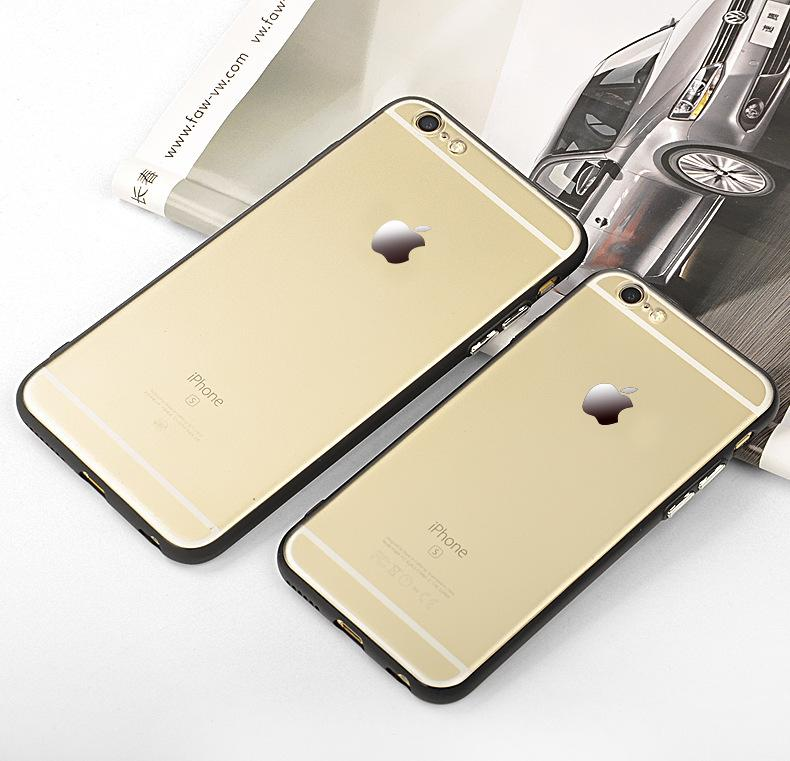 For iPhone 7 Luxury plating buttons Case iPhone6 Plus Pro Shockproof Silicone + PC Hard Back Tough Cover Phone Cases