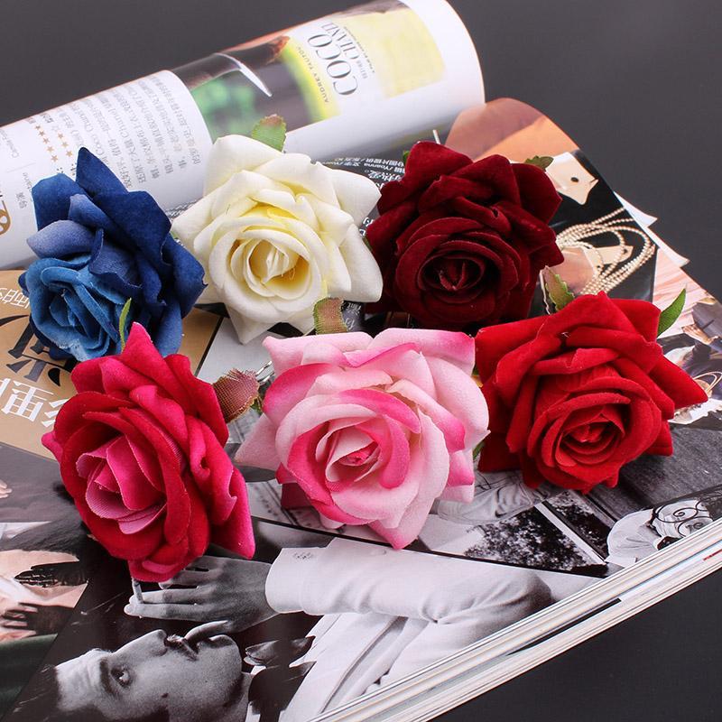 Venta al por mayor 6 unids Rose Flower Women Lady boda nupcial del partido del pelo del perno Clips Haipin moda accesorios de la joyería del pelo