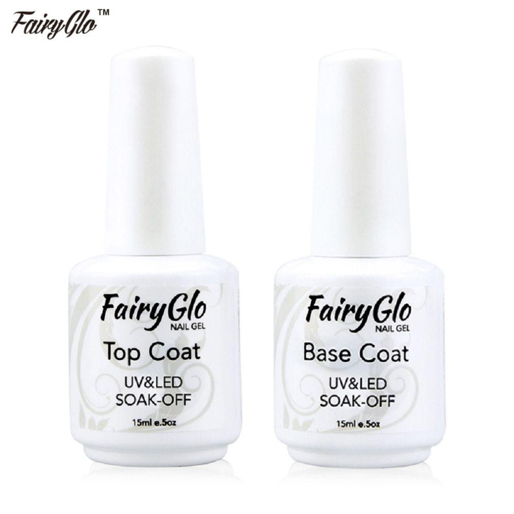 Wholesale-FairyGlo Easy Soak Off Gel Nail Polish 15ml Base Gel Top ...