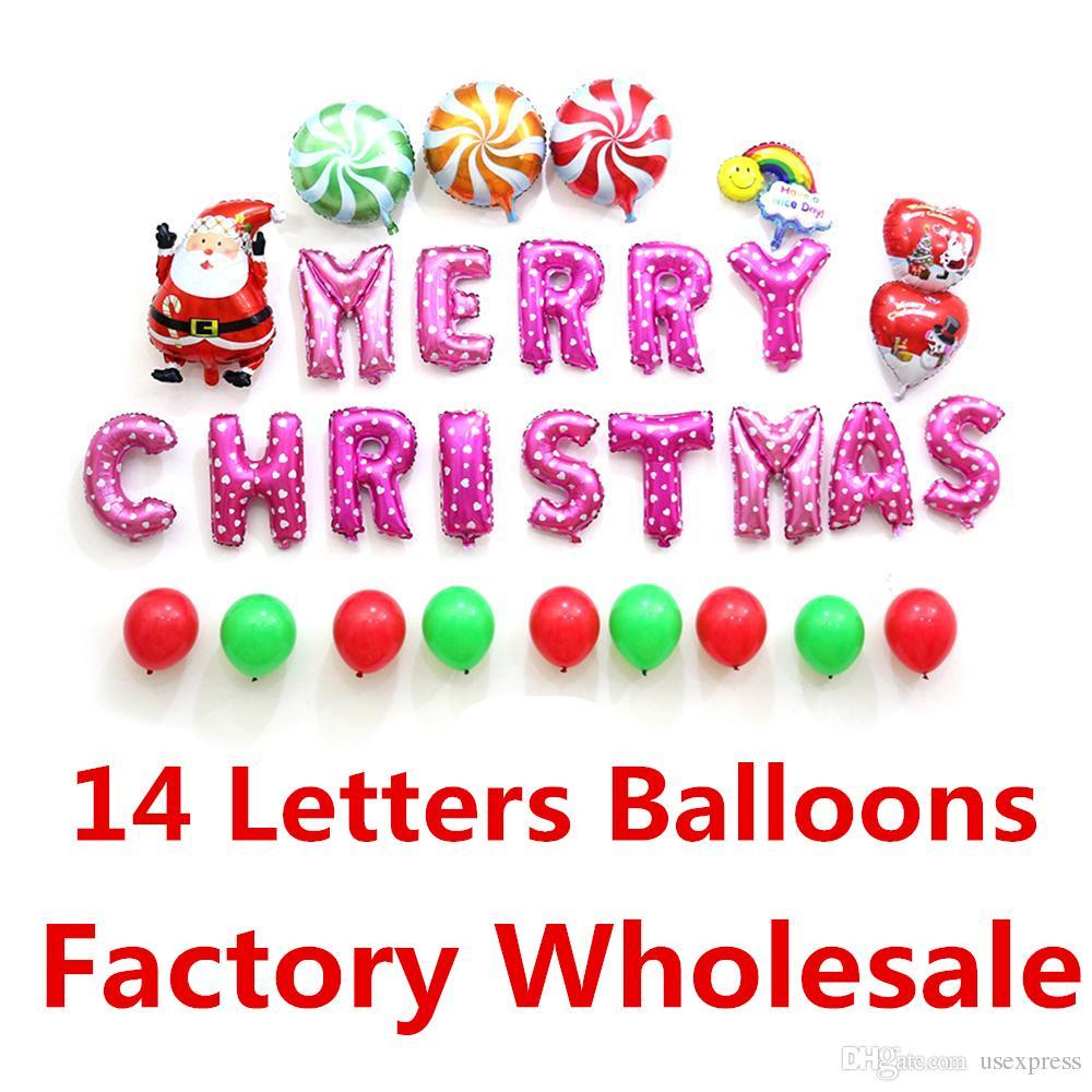 Großhandel 16inch FROHE WEIHNACHTEN Buchstaben Ballons Xmas Party ...